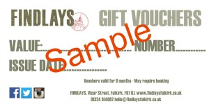 Gift Vouchers Sample